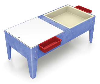 ChildBrite Toddler Double Mite Play Table - Great for Outdoor Play