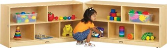 Jonti-Craft Toddler Fold-N-Locks Storage Unit for Preschools