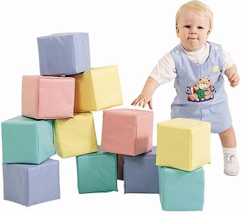 Toddler Soft Blocks in Pastel or Primary
