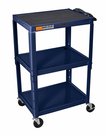Topaz Blue Adjustable Utility Cart