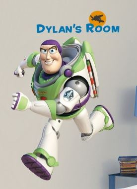 Buzz Lightyear Giant Wall Decal with Alphabet