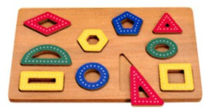 Traceable Shapes Wood Puzzle
