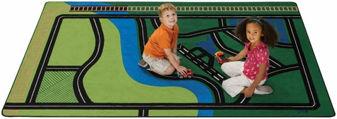 Transportation Fun Area Rug 6' x 9'