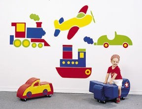 Transportation Wall Decal Set
