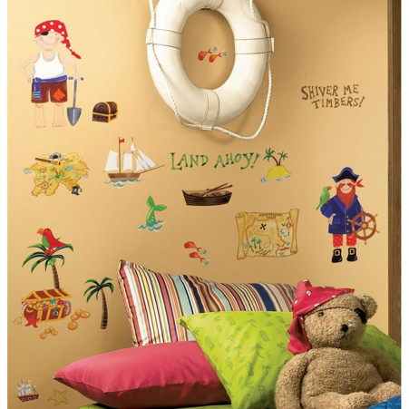 Treasure Hunt Peel & Stick Applique - Free Shipping