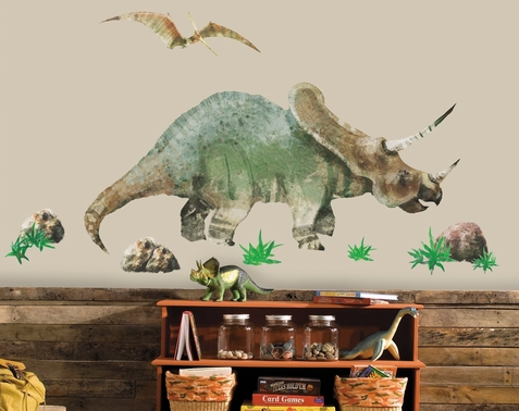 Triceratops and Pterodactyl Wall Decals