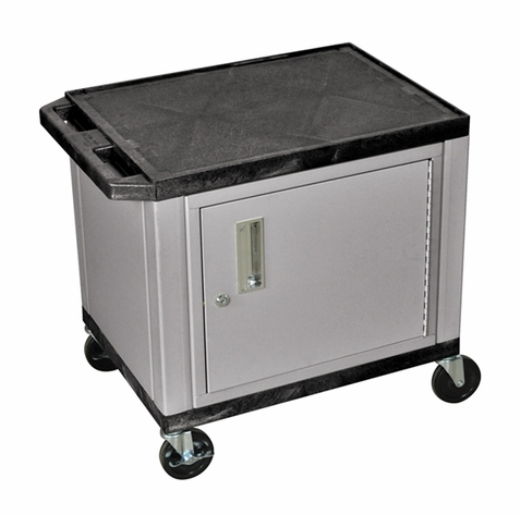 Tuffy Black Utility Cart with Cabinet