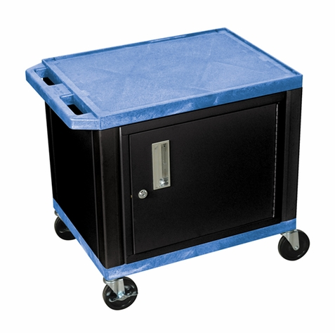 Tuffy Blue Utility Cart with Cabinet