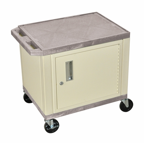 Tuffy Gray Utility Cart with Cabinet