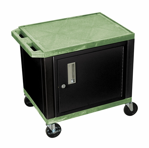 Tuffy Green Utility Cart with Cabinet