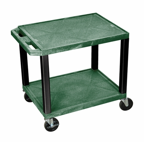 Tuffy Hunter Green Utility Cart with Cabinet