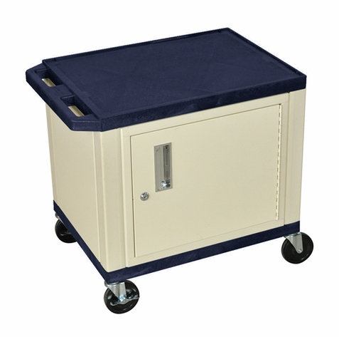 Tuffy Navy Blue Utility Cart with Cabinet
