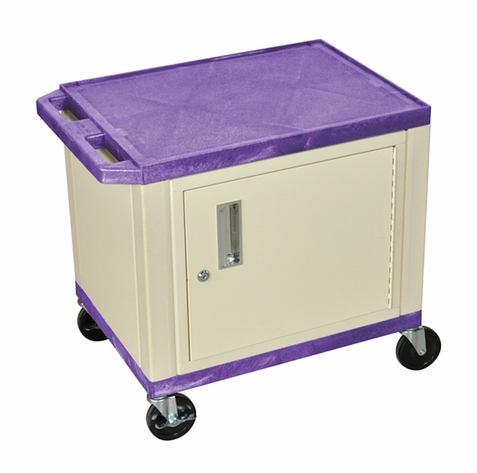 Tuffy Purple Utility Cart with Cabinet
