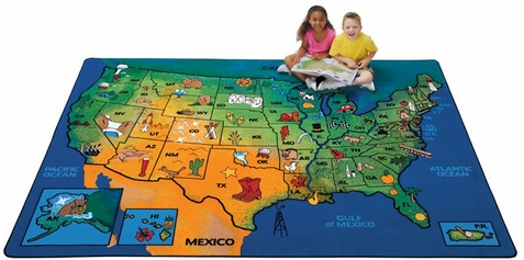 USA Learn & Play Classroom Rug 7'8 x 10'10 - Out of Stock