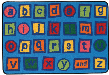 Value Line Alphabet Blocks Rug 3' x 4'6