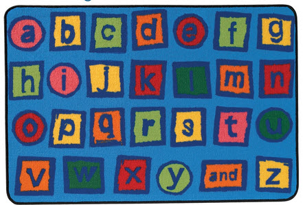 Value Line Alphabet Blocks Rug 4' x 6'