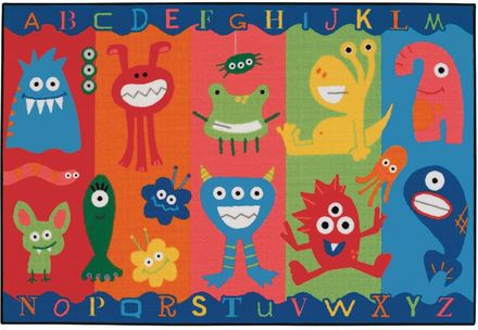 Value Line Alphabet Monsters Rug 3' x 4'6