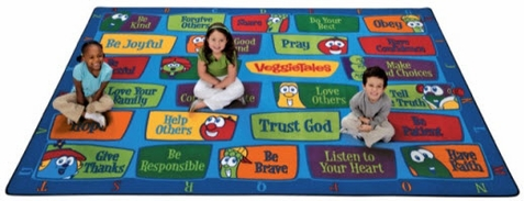 Veggie Tales Values Sunday School Seating Rug 7'8 x 10'10