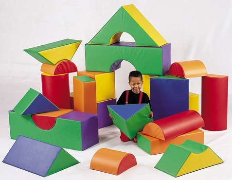 Vinyl Covered Module Soft Block Set for Toddlers