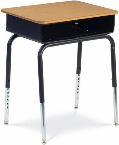 Student Desk with Metal Book Box - Free Shipping