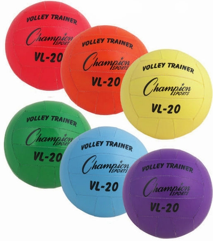 Champion Sports Volleyball Trainer Ball - Set of 6