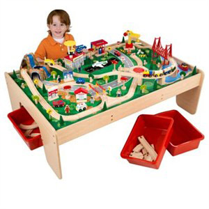 KidKraft Waterfall Mountain Train Set and Table