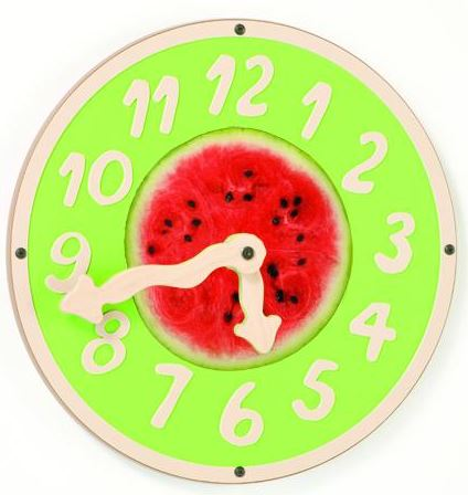 Watermelon Wiggle Clock Wall Toy
