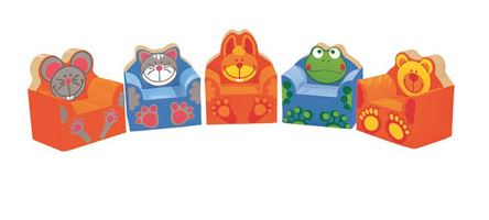 WESCO Animal Friends 5 Club Chair Set