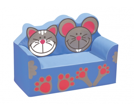 WESCO Cat and Mouse Kids Vinyl Waiting Room Sofa