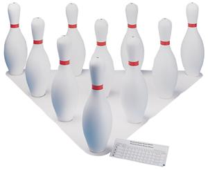 White Plastic Bowling Pin Set - Free Shipping