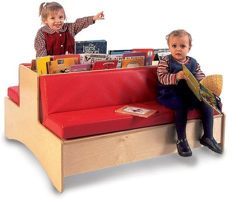 Whitney Brothers Double-Sided Reading Couch