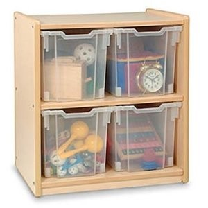 Whitney Brothers Jumbo Four Tray Storage Cabinet