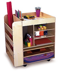 Whitney Brothers Preschool Art Cart Furniture