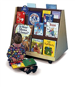 Whitney Brothers Two-Sided Book Rack