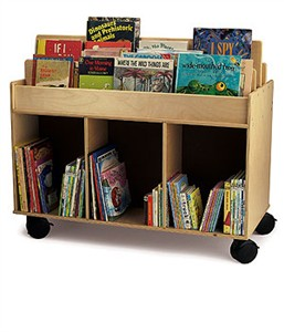 Whitney Brothers Two-Sided Library Island Cart