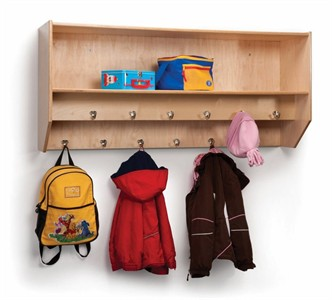 Whitney Brothers Double Row Wall Mount Classroom Coat Rack