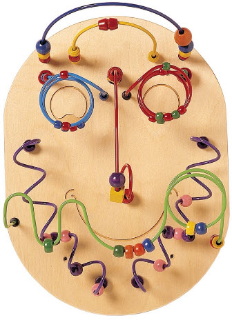 Wilbur the Wire Bead Maze Wall Panel Toy
