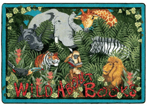 Wild About Books Library Rug 5'4 x 7'8