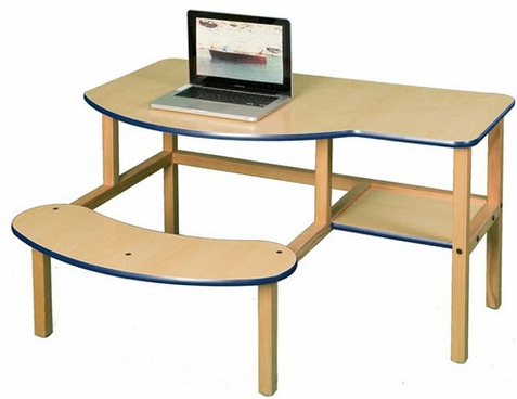 Wild Zoo Grade School Buddy Desk