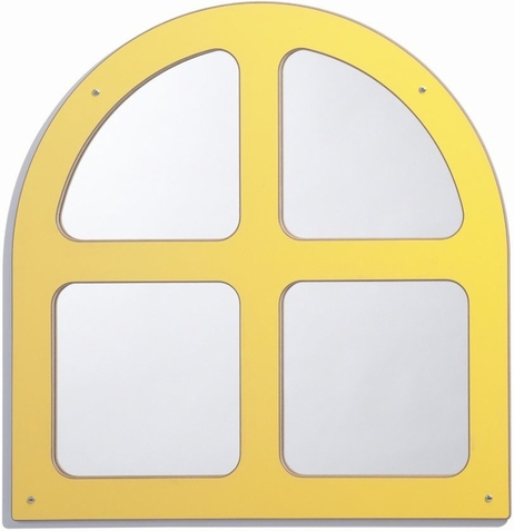 Window Framed Arch Mirror - Free Shipping