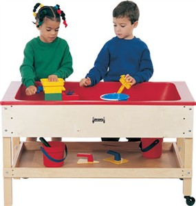 Jonti-Craft Wood Sand and Water Table with Shelf