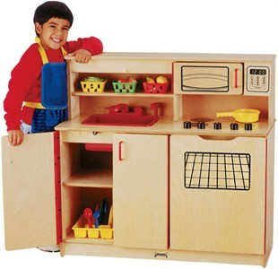 Jonti-Craft Wooden Kitchen Activity Center by