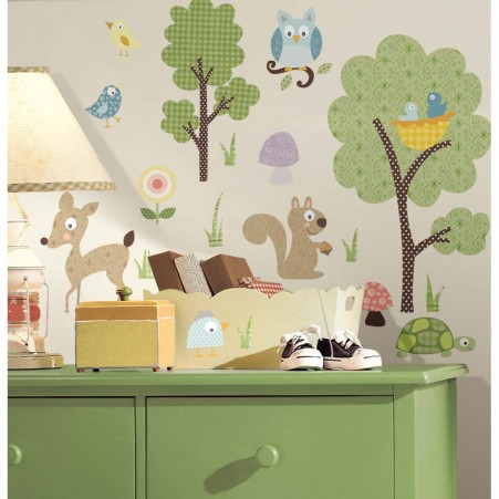 Woodland Animals Peel & Stick Decals - Free Shipping