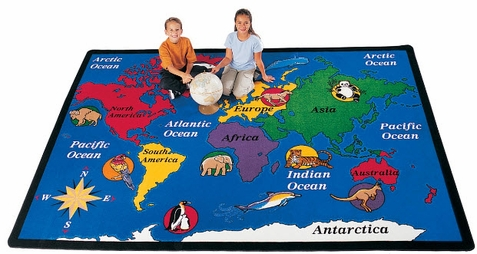 World Explorer Classroom Rug Factory Second 5'10 x 8'4