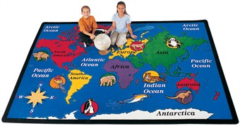 World Explorer Educational Rug 5'10 x 8'4