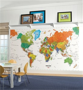 World Map XL Mural