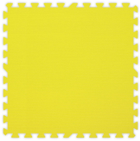Yellow Foam Interlocking Floor Tiles