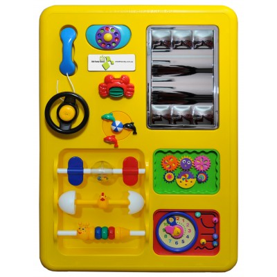Yellow Play Panel Toy - Free Shipping