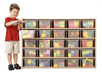 Young Time Furniture 25 Tray Cubbie Storage