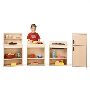 Young Time Furniture 4 Piece Play Kitchen Set